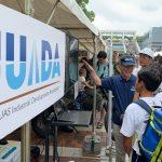 多摩市で静岡からのドローン映像を中継 JUIDAが防災訓練で