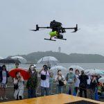 ドローンとライフセーバーが連携する水難救助訓練 片瀬西浜で日本初のデモンストレーション