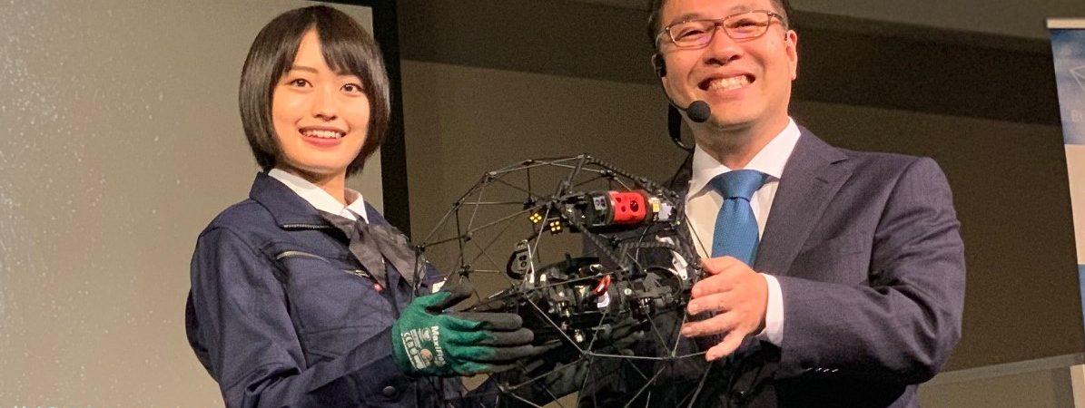 【BIカンファレンス】新型球体ドローンELIOS2を正式発表 7つのセンサーで操縦性能大幅向上