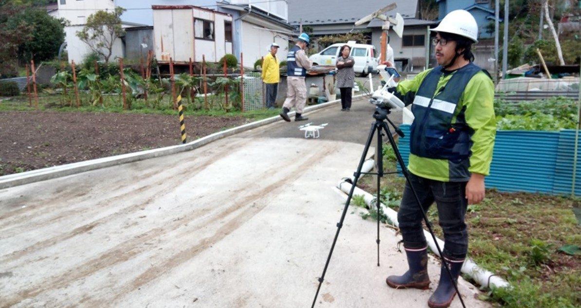 台風被災地で対応 DRONEBIRD、慶大コンソ、国際航業、スクール・・・
